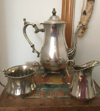 Vintage / Antique W.M. Rogers 800 Sterling Silver Plate Coffee/Tea Pot