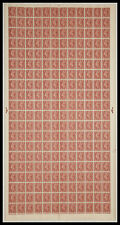Sg 506 2d Brown Complete Sheet Cyl 68 Dot UNMOUNTED MINT