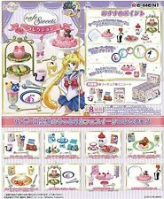 New RE-MENT Sailor Moon Crystal - Cafe Sweets Collection 8Pack BOX