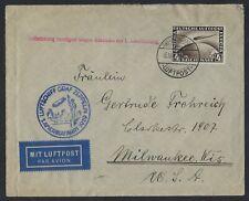 GERMANY TO US 1929 GRAF ZEPPELIN COVER FRANKED 4 MARK ZEPPLEIN