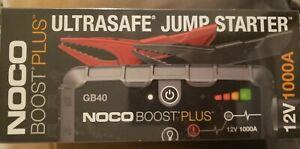 NOCO Genius GB40 Boost Plus 1000A UltraSafe Lithium Jump Starter NEW in Box