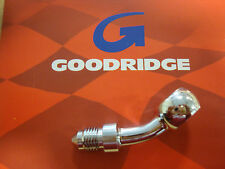 GOODRIDGE 10MM 3/8 35* BANJO FITTING BRAKE LINE CHROME BIG DOG AIH HARLEY BDM