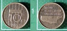10 Cents Beatrix 1983, Pays-Bas / Nederland, Nickel, Pièce de Monnaie #5