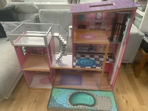 Kidkraft Large Open Plan Dolls House With Pool And Lift - Furniture Included