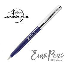 Fisher Space Pen Apollo Ballpoint Pen - 50th Anniversary - Blue & Chrome UK