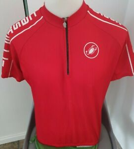Castelli Red Racing  Retro Vintage Team Cycling Jersey Eroica Size L