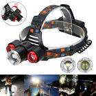 15000LM 3x XM-L T6 + 2 R5 LED Headlamp Zoomable Head Light 18650 Torch Lamp USB