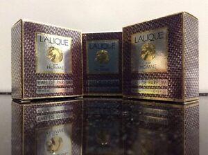 Lot Of 3: Lalique Pour Homme Eau De Parfum .15 Oz Each NIB