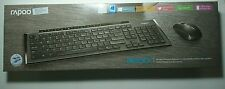 Rapoo 8200P Wireless Multimedia Keyboard & Mouse Combo ENG/HEB Black Brand New