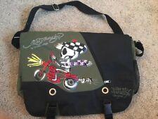 Ed Hardy Christian Audigier Shoulder Laptop Book Messenger Bag Skull Motorcycle
