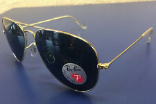 Ray-Ban Sunglasses RB3025 AVIATOR 001/58 Gold/POLARIZED Green Classic G-15 NWT