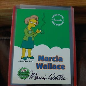 2000 Inkworks Simpsons 10th Anniversary Marcia Wallace (Edna) autograph card A5