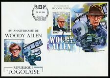 TOGO 2020  85th  ANNIVERSARY OF WOOD ALLEN   SOUVENIR SHEET FIRST DAY COVER