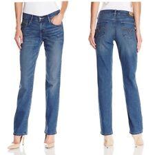 Levi's Womens Size 12 Straight Leg Jeans # 505 Red Tab Flattering Distress Denim