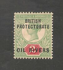 Niger Coast Protectorate #3 Vf Mint Og - 1892 2p Queen Victoria O/P Oil Rivers