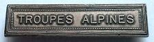 FRANCE: Agrafe barrette TROUPES ALPINES pour médailles militaires.