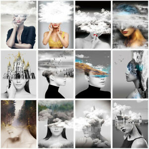 """24*36"""" Abstract Beauty Woman Prints Poster Wall Decor"""