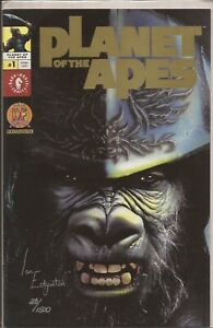 PLANET OF THE APES #1 - VARIANT - SIGNED IAN EDGINTON - WITH DF COA 28/1500