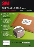 3M Etiketten Versandetiketten Recycled Selbstklebend Permanent klebend 100 Blatt