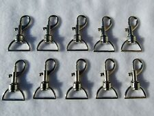 10 x DOG SWIVEL CLIP, BAG CLASP, SNAP HOOK, 25mm Width Strapping UK