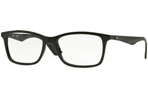 New Authentic Ray-Ban 7047 2000 Black Eyeglasses Frames 54-17-140