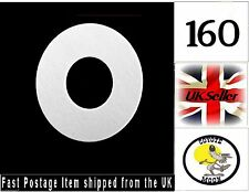 160 x  White Kraft tag ring binder,hole reinforcement stickers, labels UK Seller