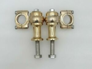 """Universal Motorcycle Brass 7/8"""" Handlebar Risers Clamp (2"""" Rise Approx"""