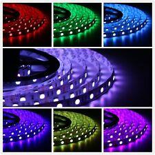 10m RGB LED Strip mit 600 LEDs SMD5050 Leiste Controller Trafo mit 120W Netzteil