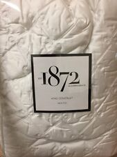 BLOOMINGDALE'S WISTERIA COVERLET WHITE KING WHITE $400