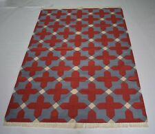 Traditional British Colonial Home Decorative Red Carpet Living Room 4x6 Ft