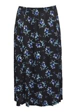 Calf Length Viscose Floral Plus Size Skirts for Women