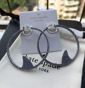 Kate Spade New York California dreaming pave shark hoops Earrings