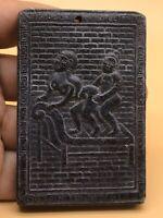 CIRCA 200-300AD ANCIENT ROMAN JADE EROTIC SCENE PLAQUE -