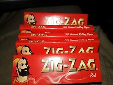 6 PACKS ships $1 new ZIG ZAG RED rolling papers PREMIUM FRENCH QUALITY 50ct 300T
