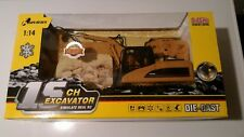 Toy Construction Tractor Excavator with Metal Bucket Remote Control  - NEW