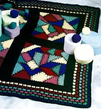 SCRAP Crazy Patch Afghan/Crochet Pattern INSTRUCTIONS ONLY