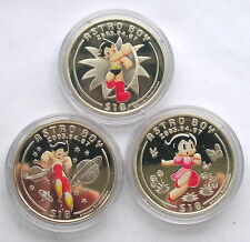 Sierra Leone 2003 Astro Boy 10 Dollars Set of 3 Silver Coins,Proof
