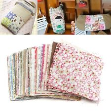 "100Pcs 3.94x3.94"" Square Floral Cotton Fabric Patchwork for DIY Sewing Bunting"