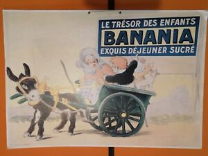 Grande Affiche publicitaire ancienne BANANIA