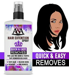 Tape Keratin Bond Remover Glue Hair Extensions Pre Bonded Remy Fast & Easy 100ml