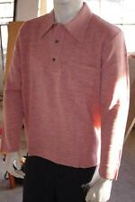 Polo pull 60er messieurs nos true vintage 70er taille 54 polo 60s sweater 70s rose