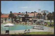 Postcard ST SIMONS ISLAND Georgia/GA  King & Prince Hotel Swimming Pool 1950's