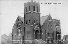 Lake Odessa Michigan view of Methodist Episcopal Church antique pc Y11823