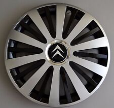 "15"" Citroen C3,C4,C5,Picasso,Berlingo..Wheel Trims / Covers, Hub Caps,black&silv"