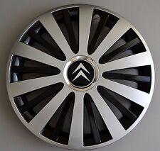 """15"""" Citroen C3,C4,C5,Picasso,Berlingo..Wheel Trims / Covers, Hub Caps,black&silv"""