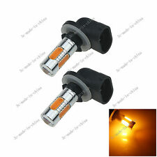 2X Yellow 5 COB 7.5W LED 881 886 H27W2 Car Bulb Fog Light Driving Headlight H651