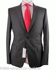 VERSACE COLLECTION DK Grey Tonal Stripe Trend Fit 100% Wool Suit EU48 Uk38 BNWT