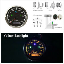 1X 85mm Motorcycle Car GPS Speedometer 200km/h Odometer Total Mileage Adjustable