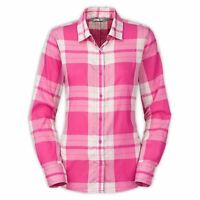NWOT The North Face Women's LS Shade Me Shirt Raspberry Plaid Size XS