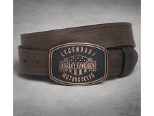 Harley-Davidson Legendary Belt cinturón de cuero talla 34 Inch cuero gütel con Buckle